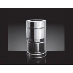 Дымоход Craft AISI 316/0,5мм + 304/0,5мм зеркало, изоляция 25мм, 0,5 м, диаметр 150