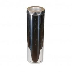 Дымоход Феникс труба AISI 321 0,5мм+50+нерж(зерк) 2Т 1000, диаметр 130