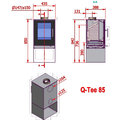 RAIS Q-Tee 85 стеклянная дверца