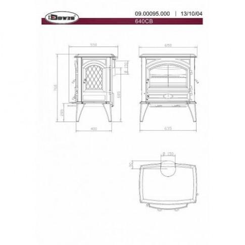 Печь-камин Dovre 640WD/E