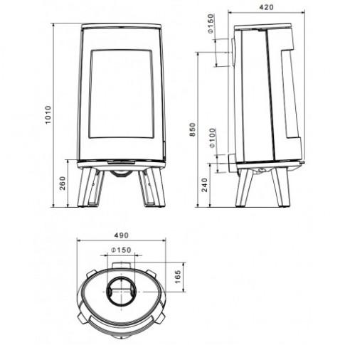 Печь-камин Dovre BOLD300/E
