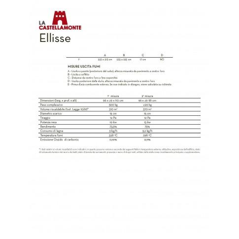 Печь-камин La Castellamonte ELLISSE Размер 2