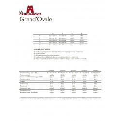 Печь-камин La Castellamonte GRAND'OVALE 4 размер
