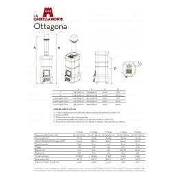 Печь-камин La Castellamonte OTTAGONA 5 размер