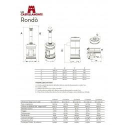 Печь-камин La Castellamonte RONDO' 3 размер