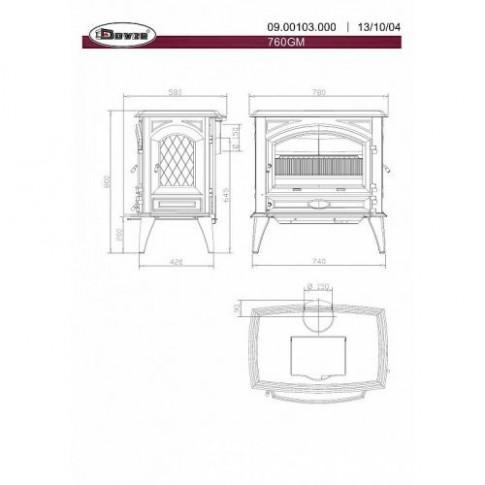 Печь-камин мультитопливная Dovre 760GM/E