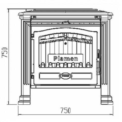 Печь-камин Plamen Tena N