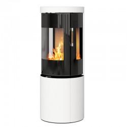 Печь-камин RAIS Juno Ceramic 120 с боковыми стеклами