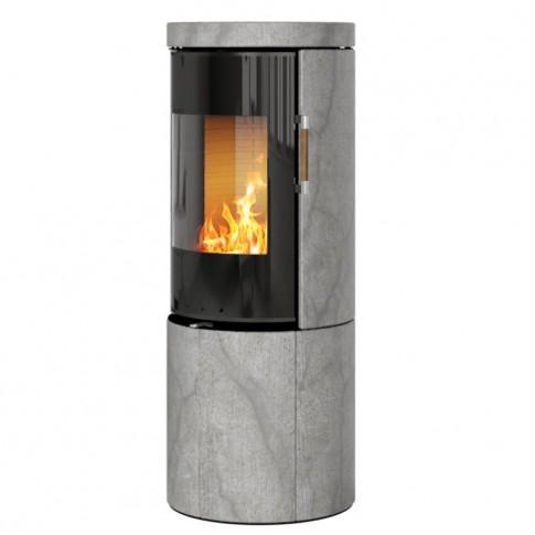 Печь-камин RAIS Juno Soapstone 120 со стеклянной дверцей без боковых стекол