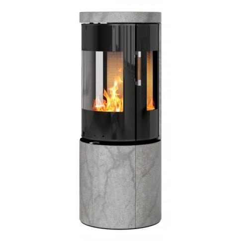 Печь-камин RAIS Juno Soapstone 120 со стеклянной дверцей и боковыми стеклами
