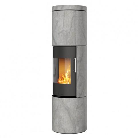 Печь-камин RAIS Juno Soapstone 165 со стальной дверцей без боковых стекол