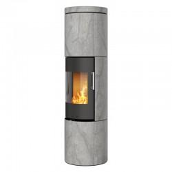 Печь-камин RAIS Juno Soapstone 165 со стеклянной дверцей без боковых стекол