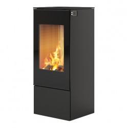 Печь-камин RAIS Nexo 100 черная со стеклянной дверцей