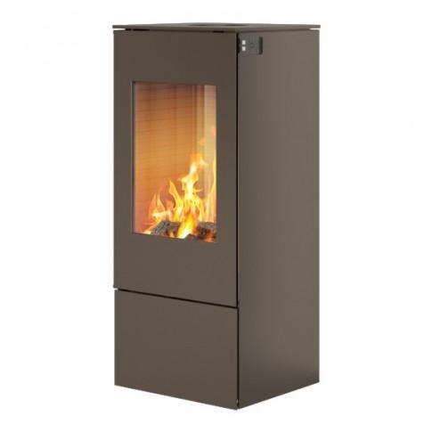 Печь-камин RAIS Nexo 100 в цвете со стальной дверцей