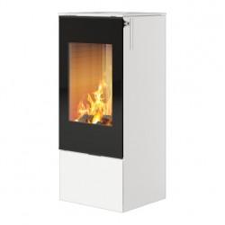 Печь-камин RAIS Nexo 100 в цвете со стеклянной дверцей