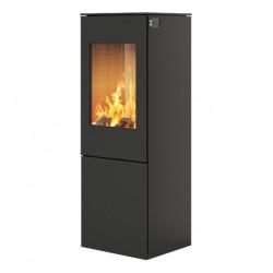 Печь-камин RAIS Nexo 120 черная со стальной дверцей