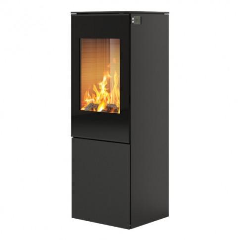 Печь-камин RAIS Nexo 120 черная со стеклянной дверцей