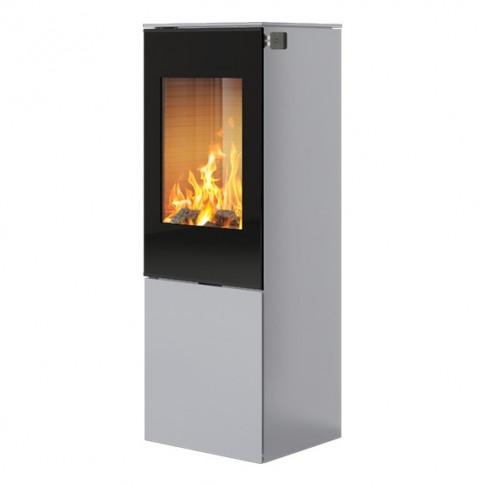 Печь-камин RAIS Nexo 120 в цвете со стеклянной дверцей