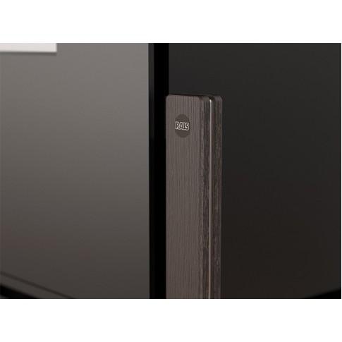Печь-камин RAIS Q-BE black стальная дверка