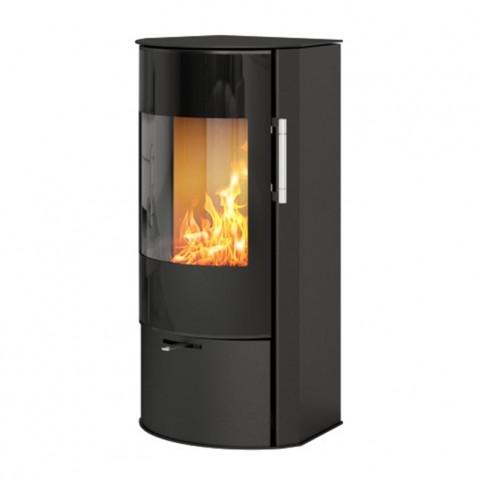 Печь-камин RAIS Rina со стеклянной дверкой, черная