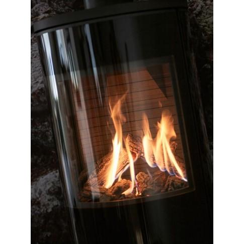 Печь-камин VIVA L 100 Gas со стальной дверцей