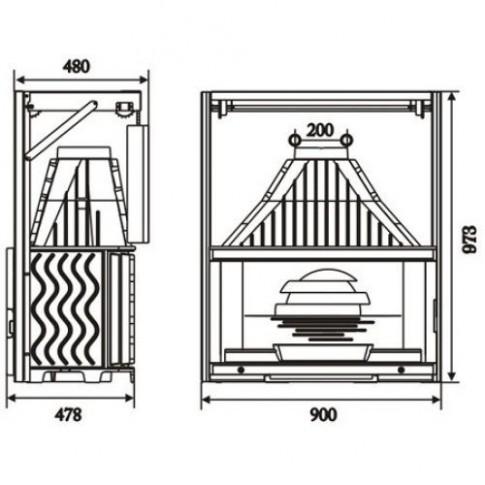 Топка Invicta Grand Vision 900 lifting door (Гранд Визьон 900 контргруз)