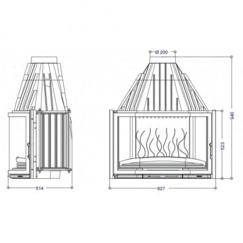 Топка Invicta Prismatic 850 (Призматик 850)