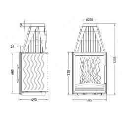 Топка Invicta Vertical 720 (Инвикта Вертикаль 720)