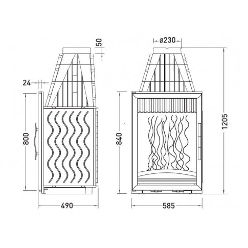 Топка Invicta Vertical 840 (Инвикта Вертикаль 840)