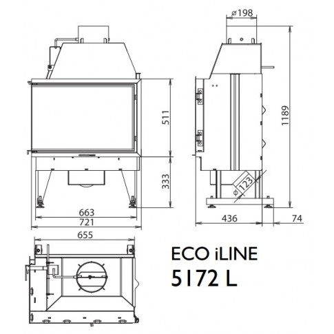 Топка KFD ECO iLINE 5172 L/R