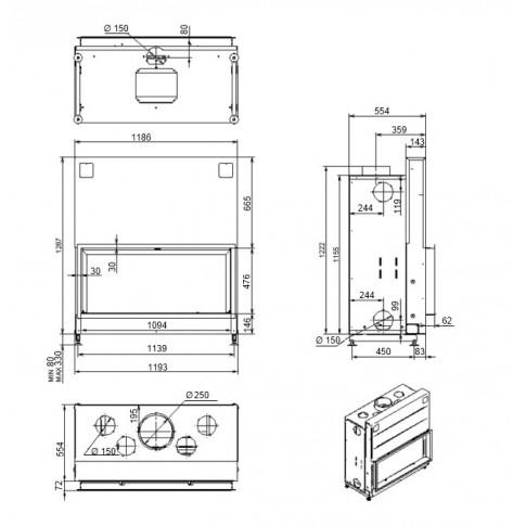 Топка M-design Argento 1200 H