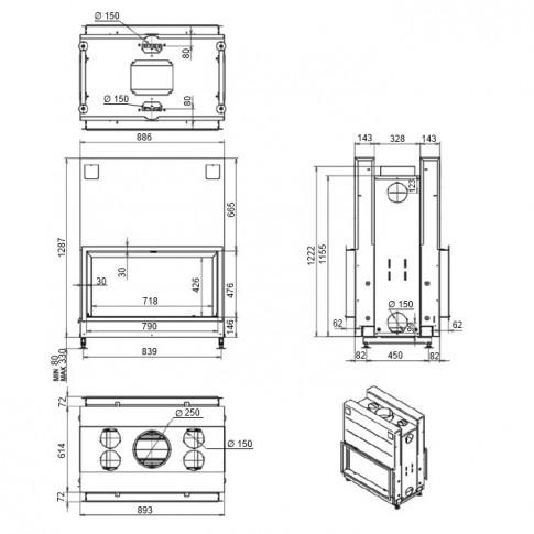 Топка M-design Argento 900 DH
