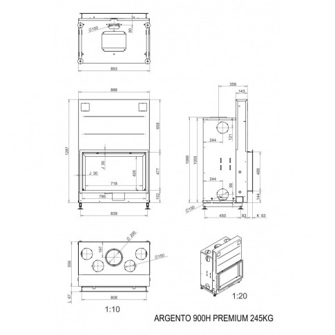 Топка M-design Argento 900 H