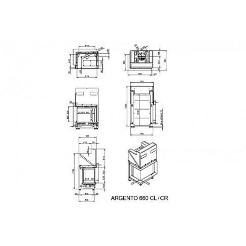 Топка M-Design Арженто 660 CL/CR