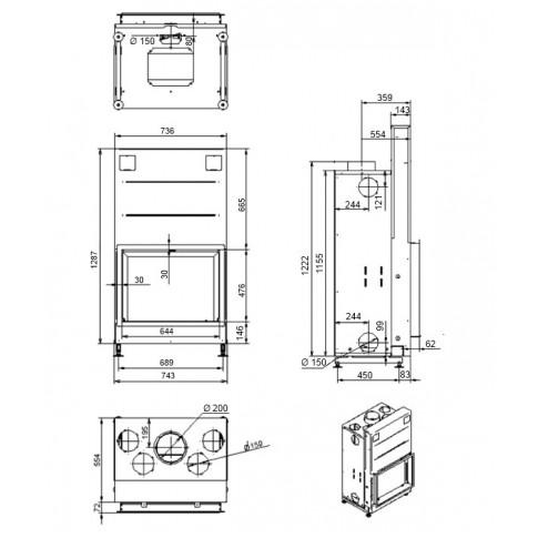 Топка M-design M-design Argento 750 H